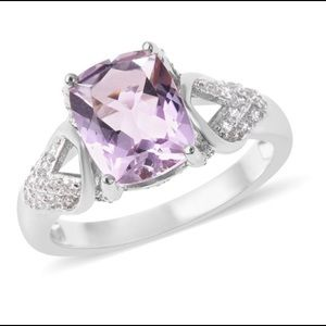Rose De France Amethyst Ring - size 9